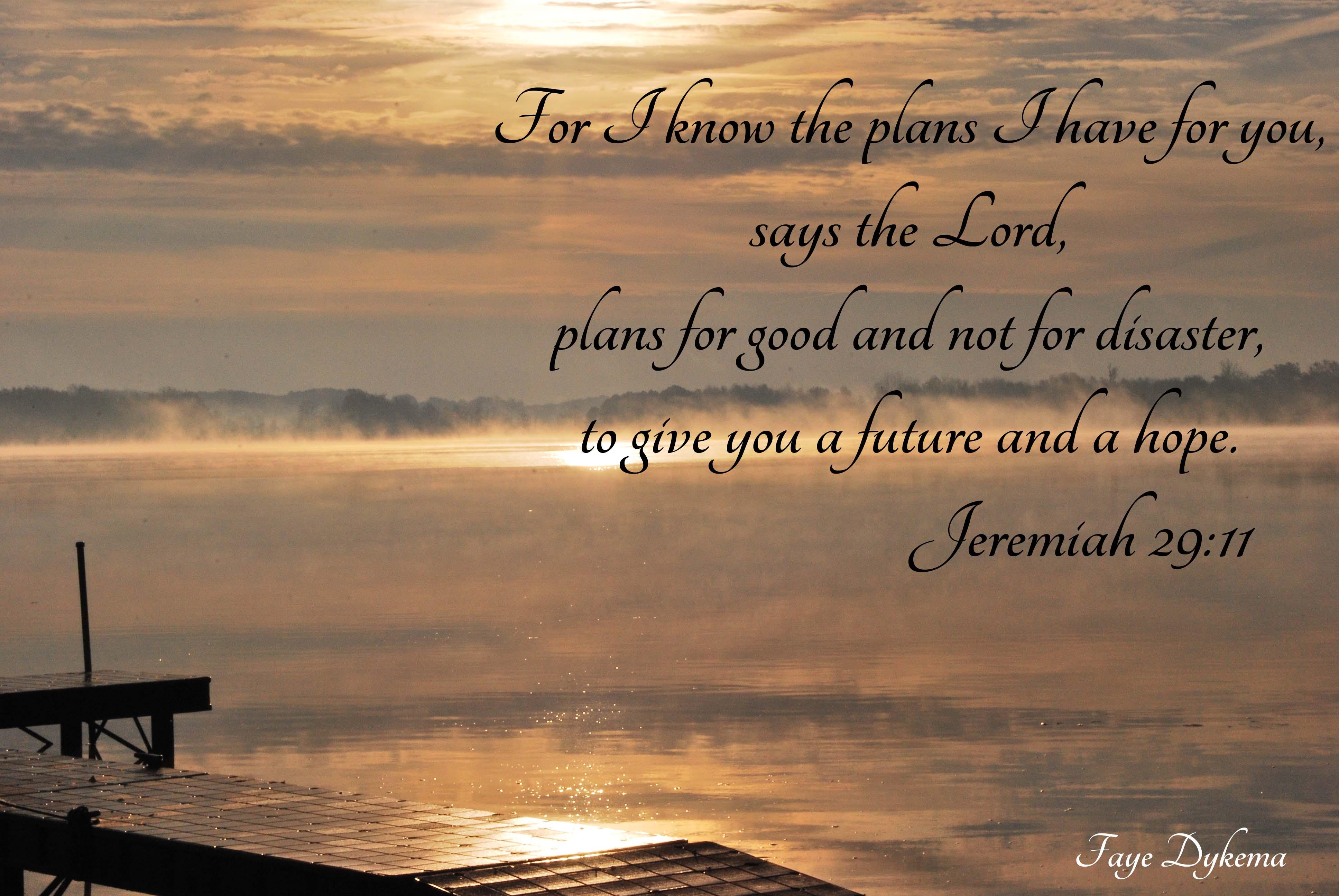Jeremiah 29:11 ... Ephesians 1:11