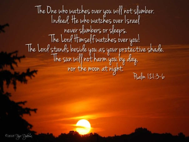 Psalm 121:3-6 God Never Sleeps