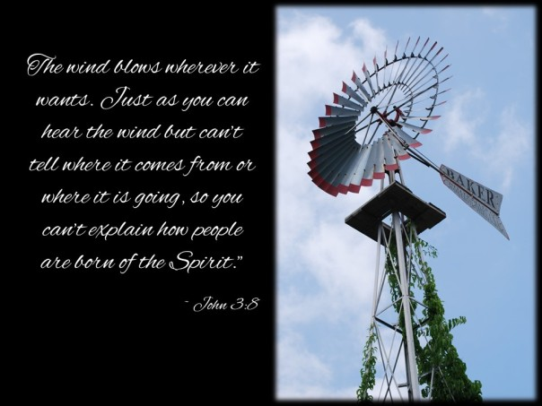 The wind blows John 3v8