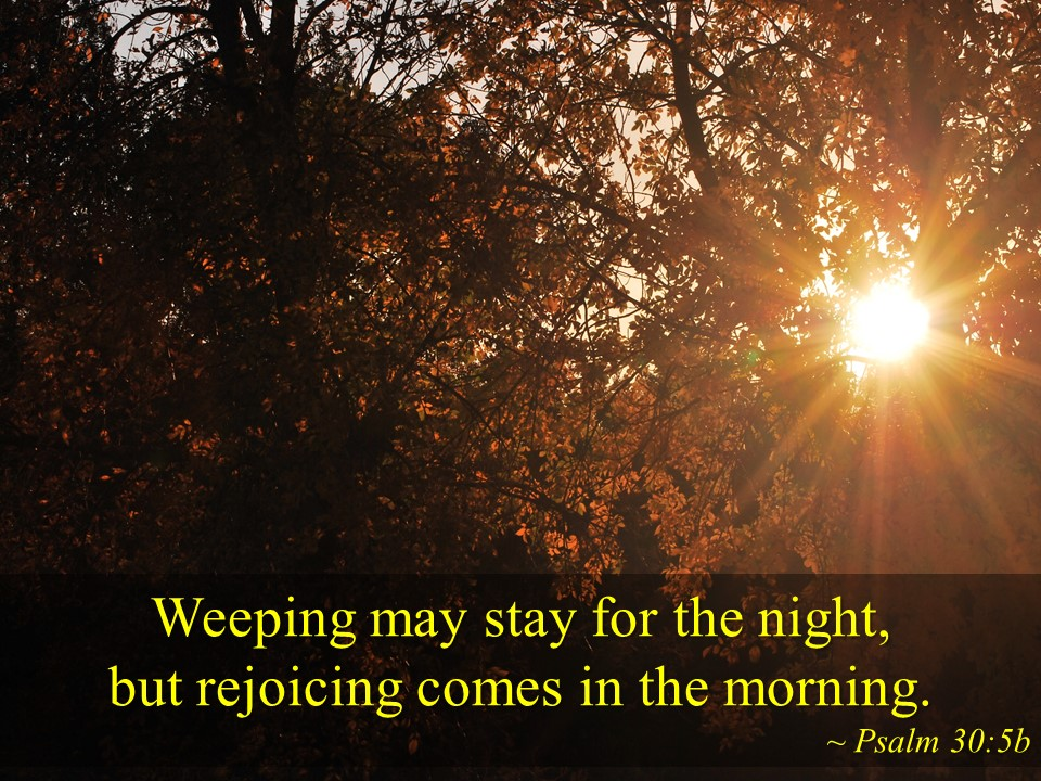 Psalm 30v5a