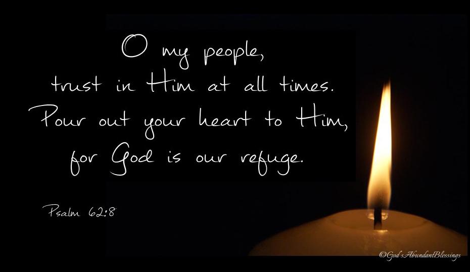 Psalm 62v8 candle