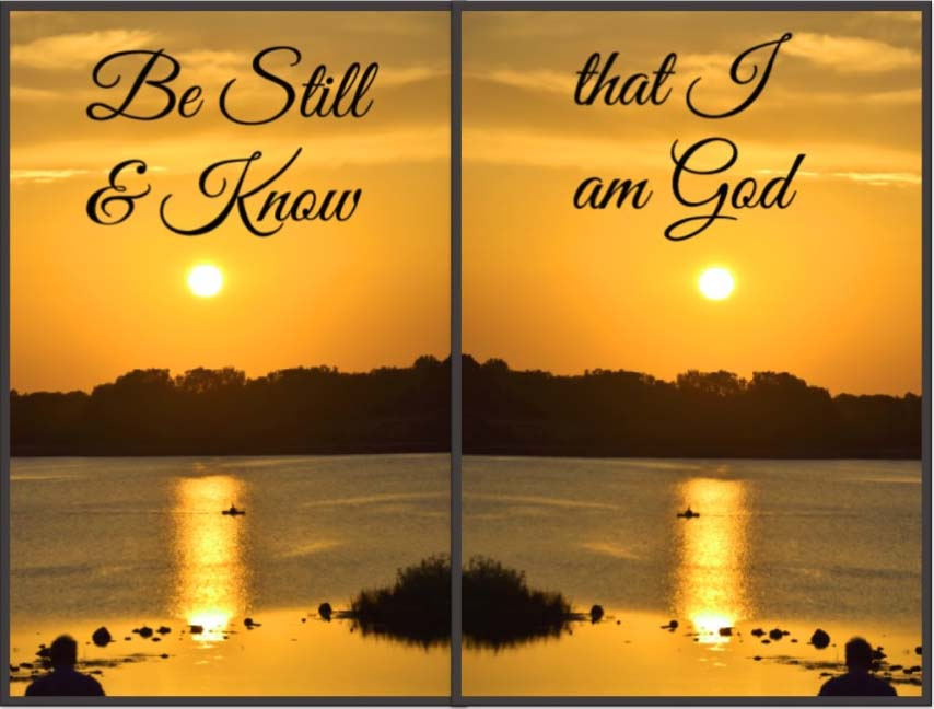 Be Still and Know Ps 46_19 framed