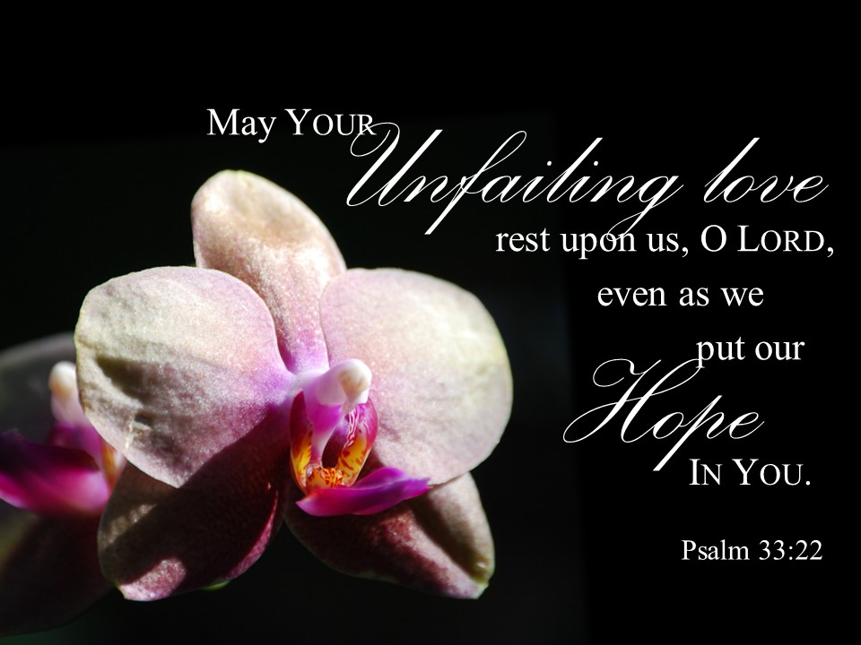 Ps 33v22 Unfailing Rest